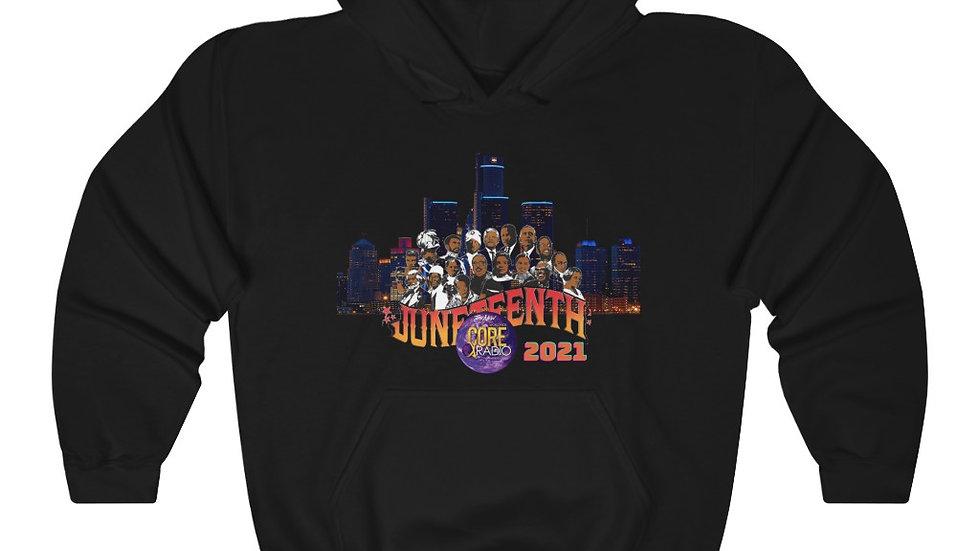 """""""JuneteenthDetroit 2021"""" Unisex Heavy Blend™ Hooded Sweatshirt"""