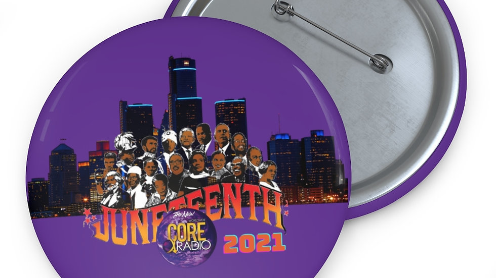 """""""JuneteenthDetroit 2021""""  Core Purple Collectable Pin Buttons"""