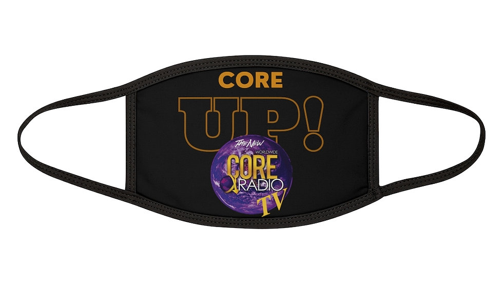 """Core Up!"" Tv Mixed-Fabric Face Mask"