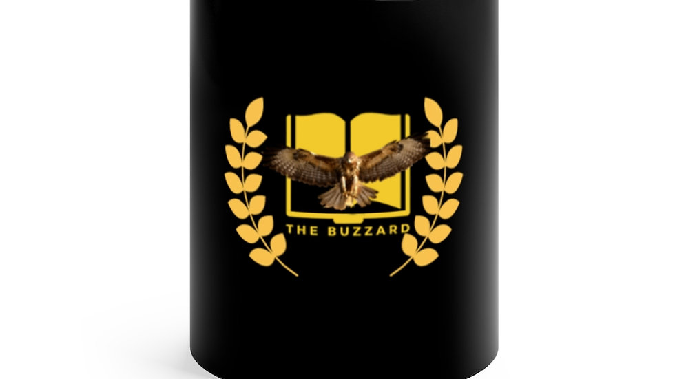 """The Buzzard"" Black mug 11oz"
