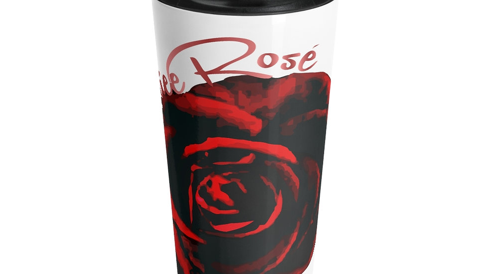 Mariee Rose' Stainless Steel Travel Mug