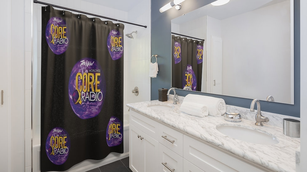 """""""Core Up""""  The Bath Collection Shower Curtains Black"""