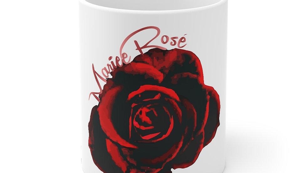 Mariee Rose' Coffee Mug 11oz White