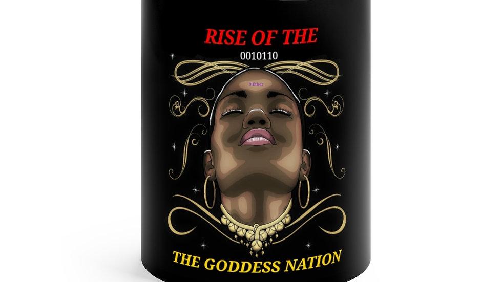 Rise Of The Goddess Nation Black mug 11oz