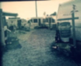 early days of the camp-out rv sales lot