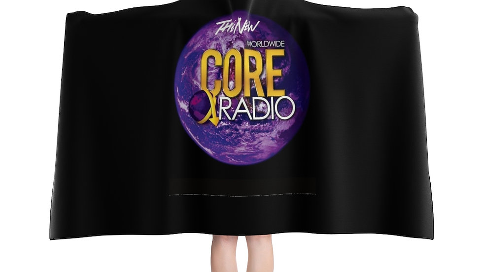"""""""CORE UP' with our plush Hooded Blanket"""