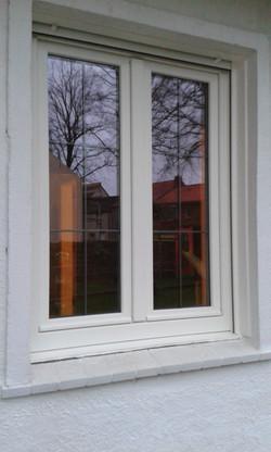 raam in folie zuiver wit ral 9010