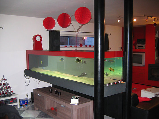 Aquarium met bioblok filtering
