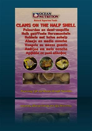 Clams on the half shell 100 gr