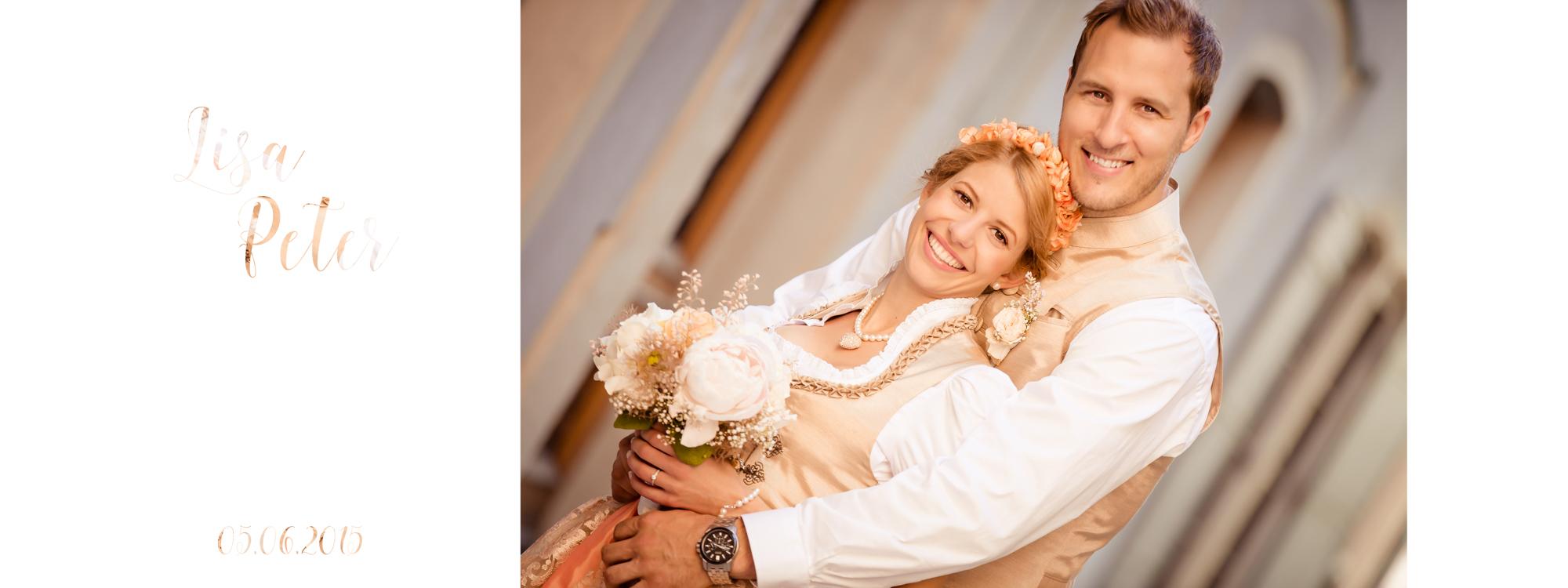 Hochzeitsbuch Lisa & Peter Seite 1