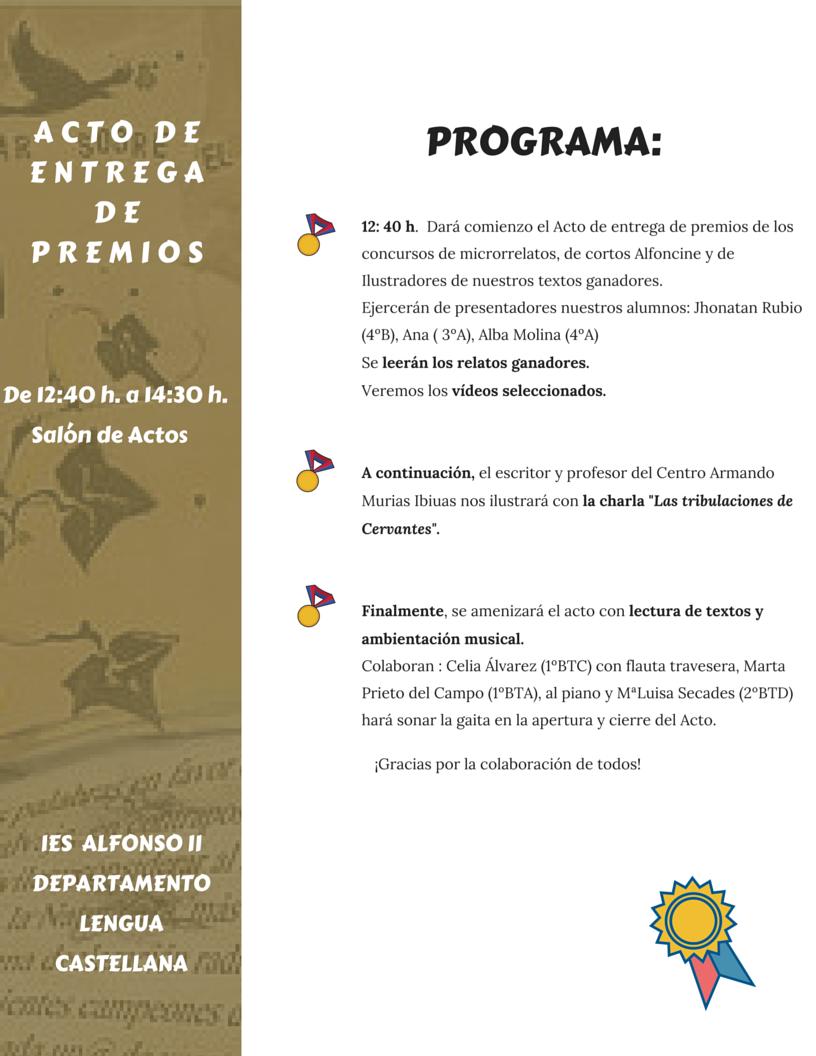 ACTO ENTREGA PREMIOS 2016