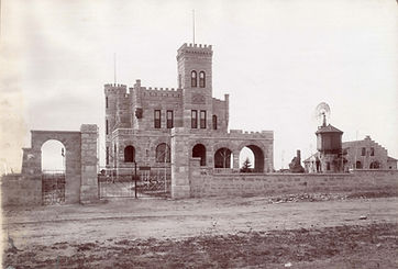 The Richthofen Castle when it was first built in Montclair, Colorado in 1886