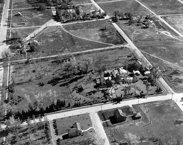 A historic view of the Richthofen Castle when its land was being subdivided into Montclair suburbs