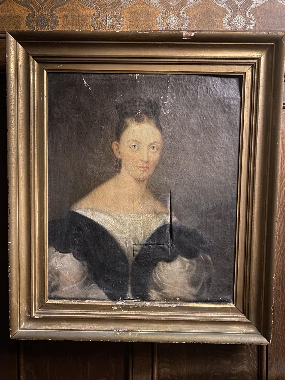 A portrait of Baroness Louise von Ricthofen, wife of Baron Walter von Ricthhofen, original owner of the Richthofen Castle