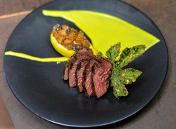 Hangar Steak with Summer Squash