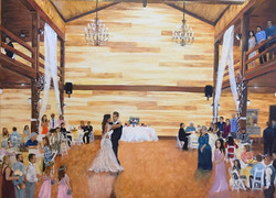 Wedding Painting at Brookeside Barn in M