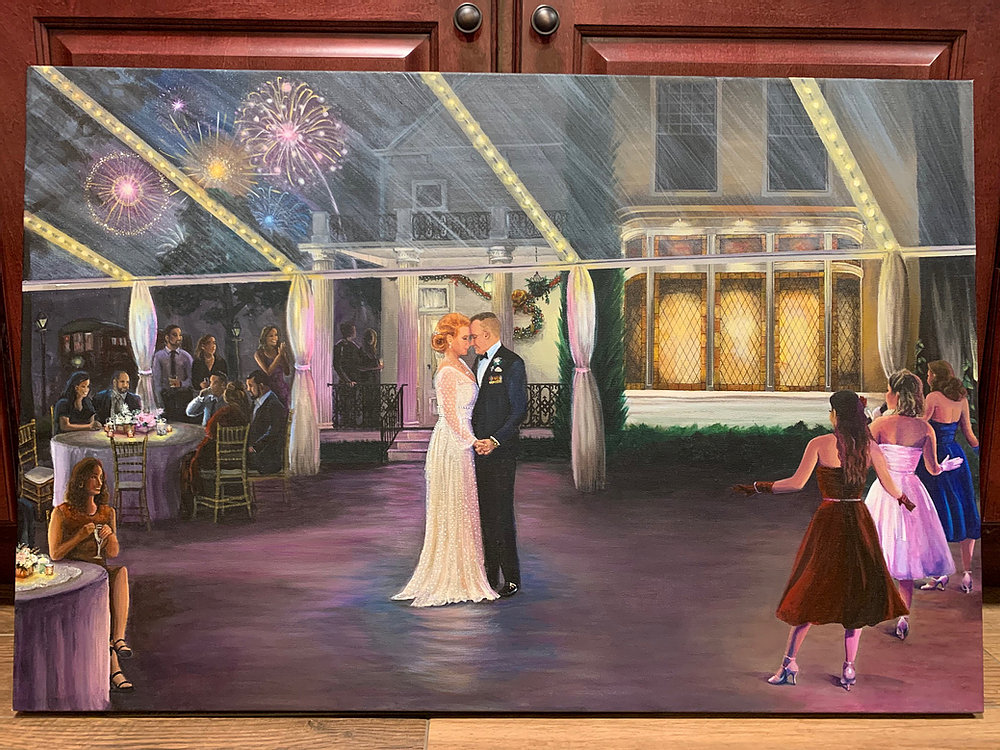 Elms Mansion Wedding Painting