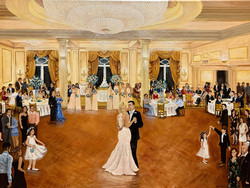 Wedding Painting at Chateau Country Club