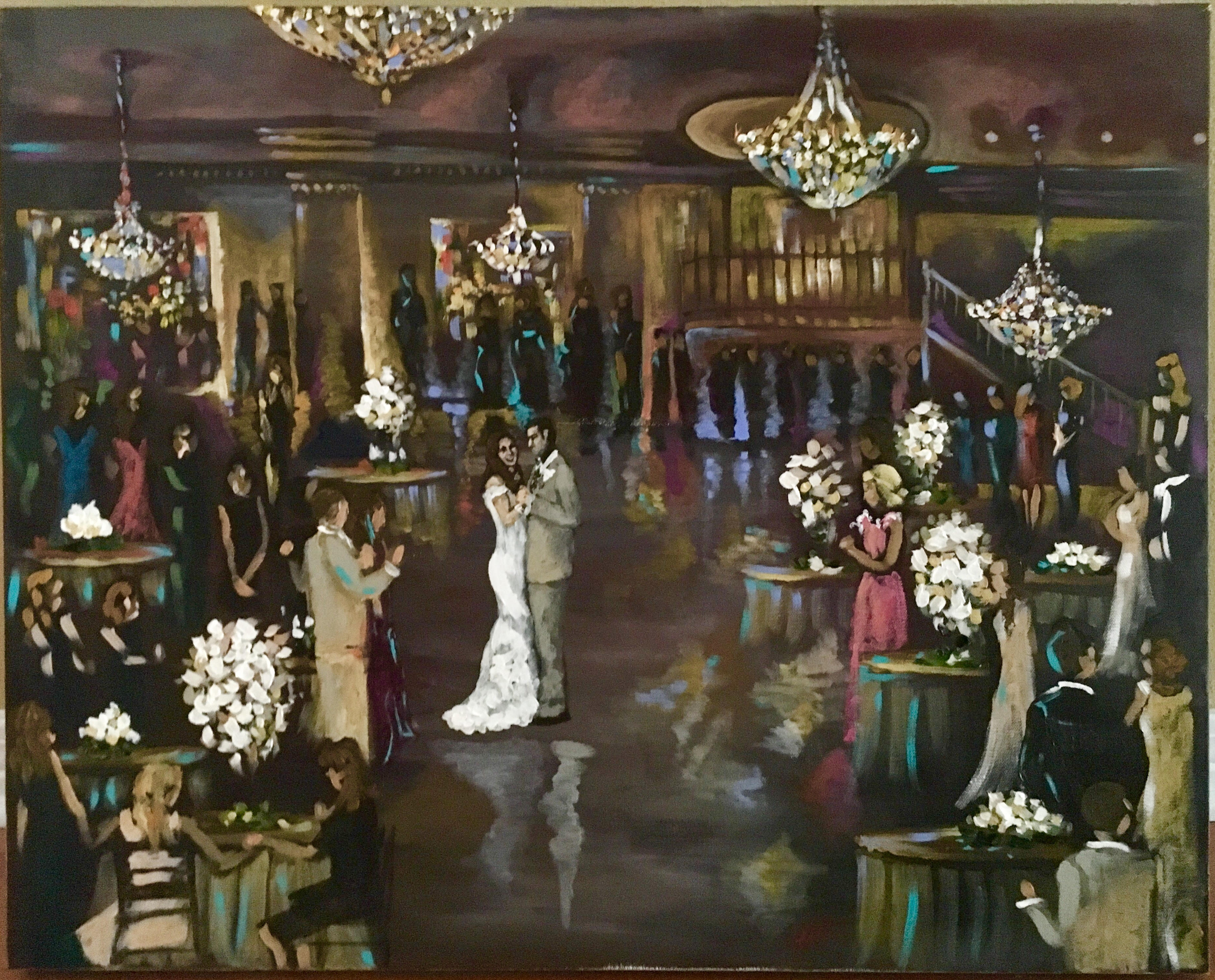 Live Event Painting Wedding