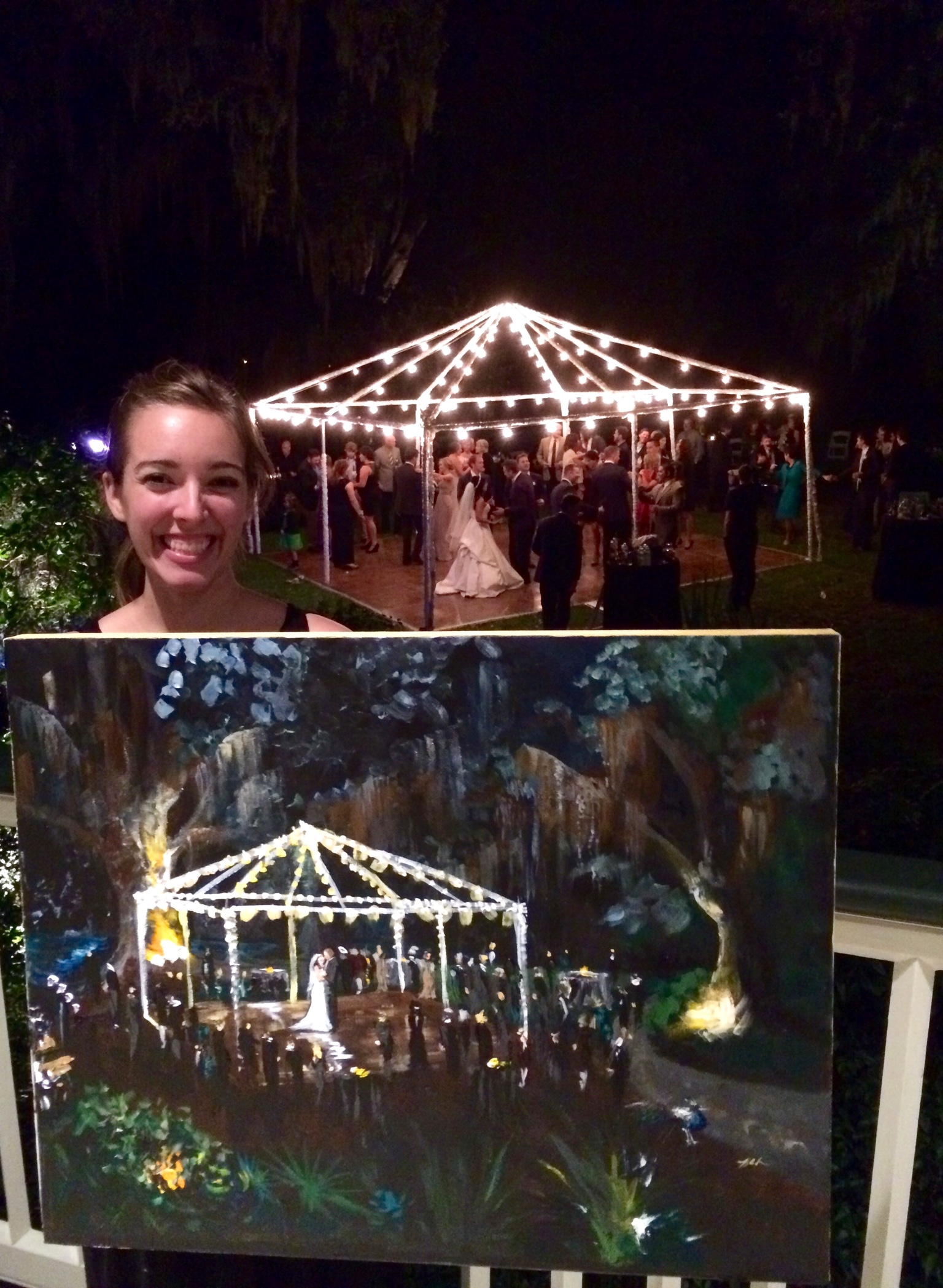 laplace live wedding painting