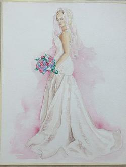 Watercolor Bridal Portrait