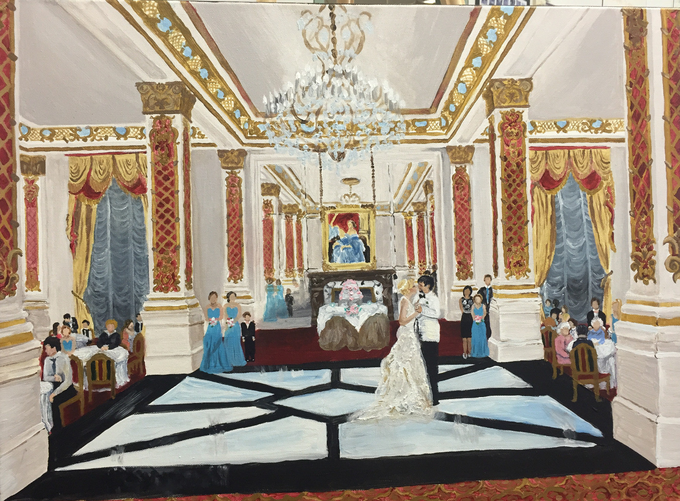 Wedding Painting in French Quarter_Le Pa