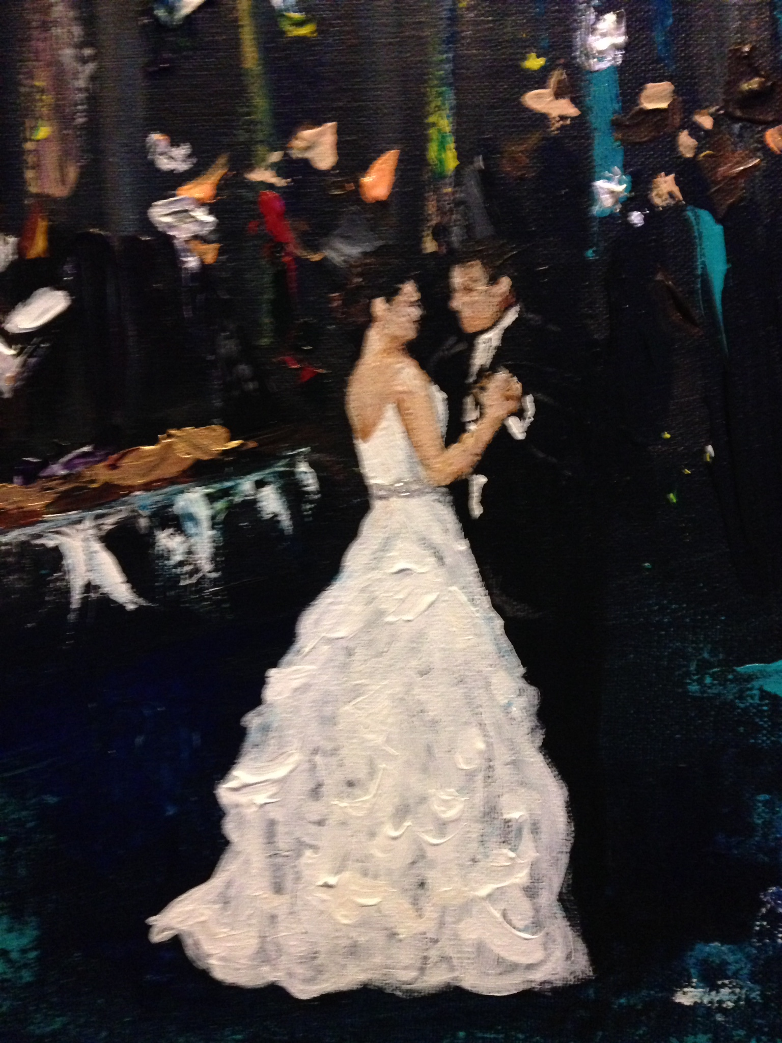 orleans live wedding painting