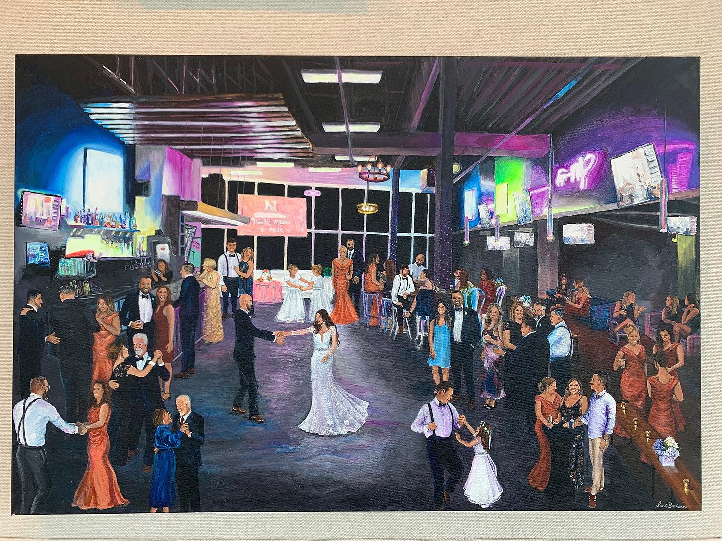 Loft 18 Wedding Painting