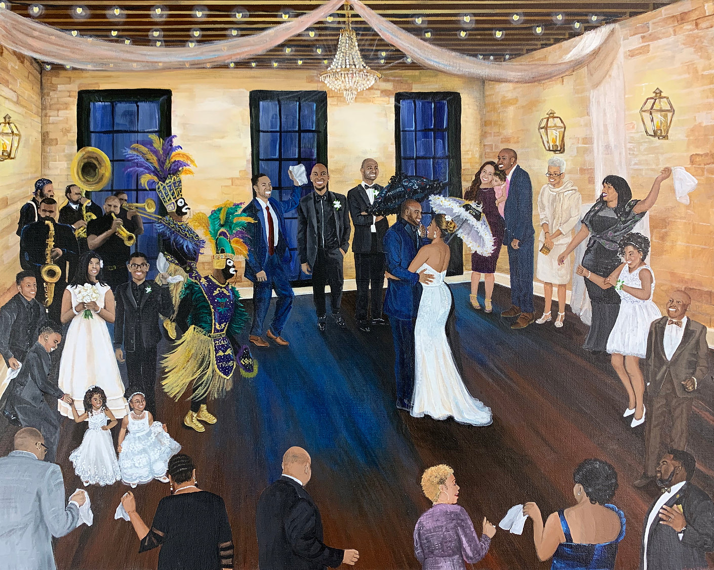 Wedding Painting at the Chicory in New O