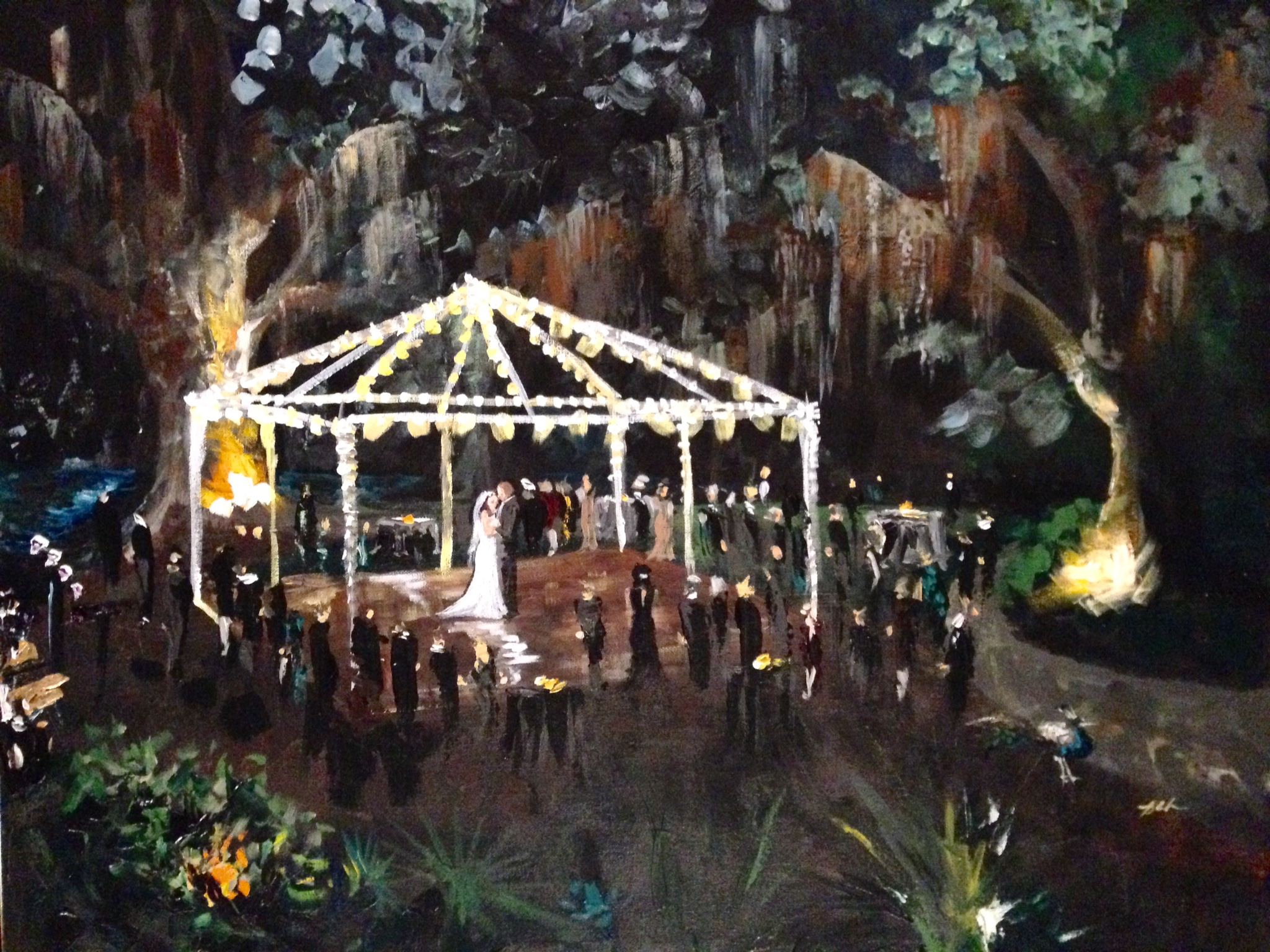 gretna live wedding painting