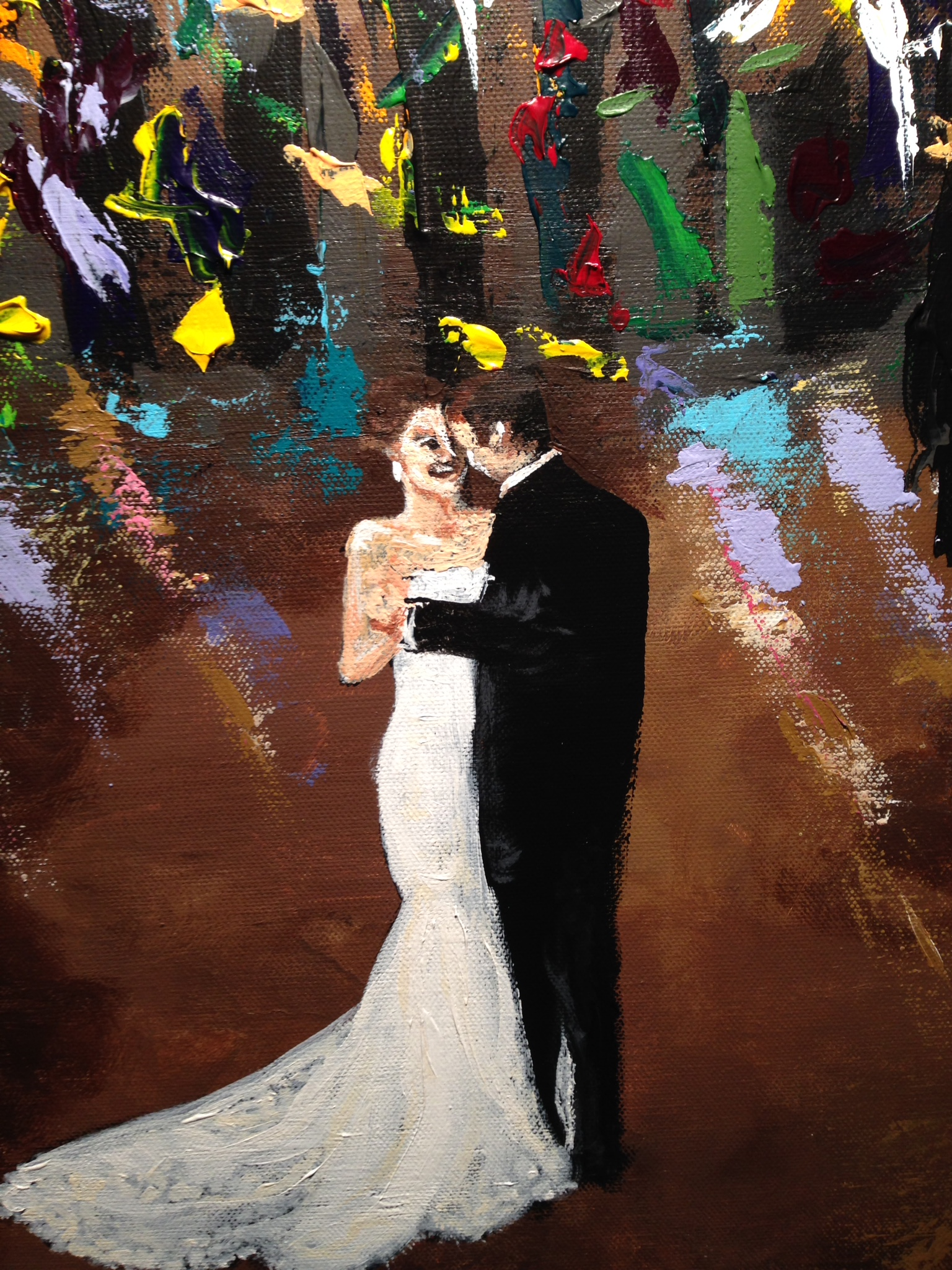 kenner live wedding painting