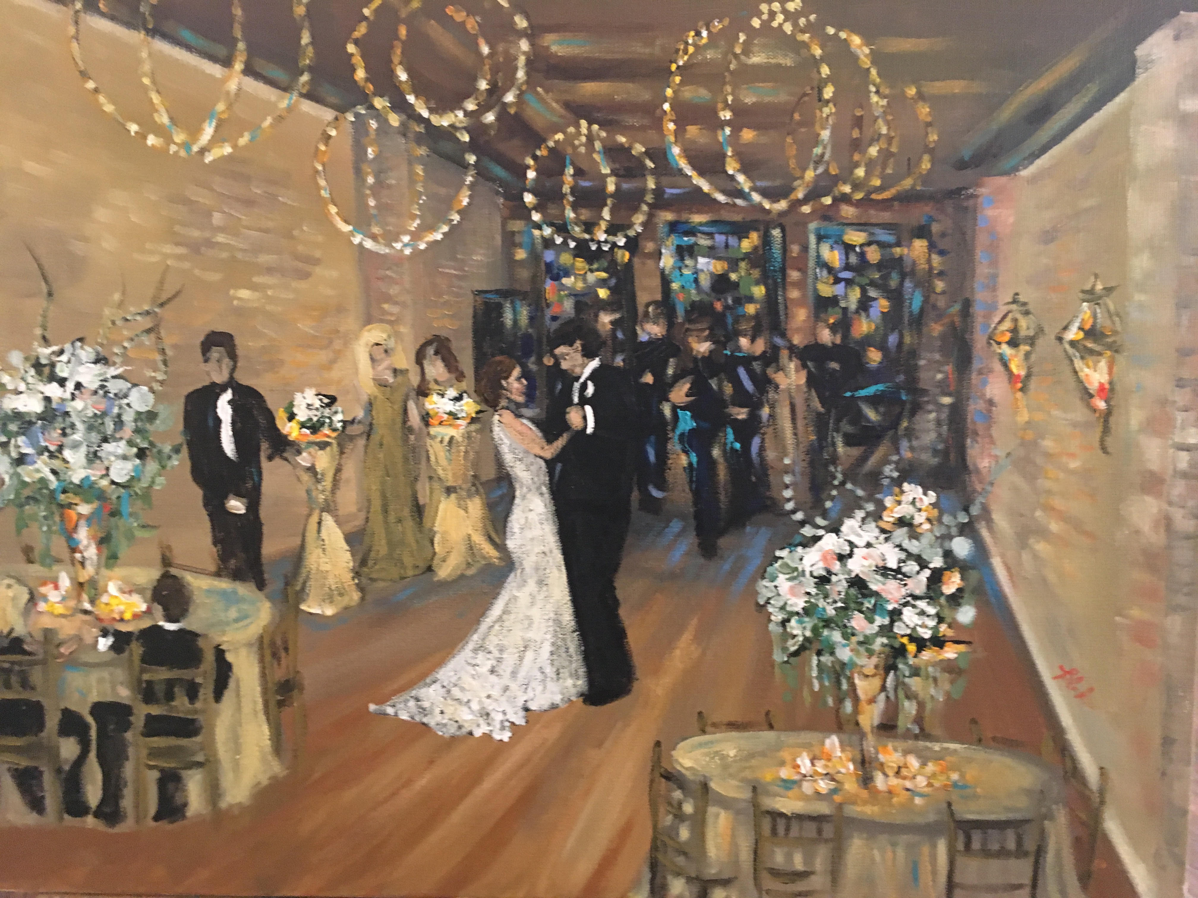 Live Event Painting First Dance
