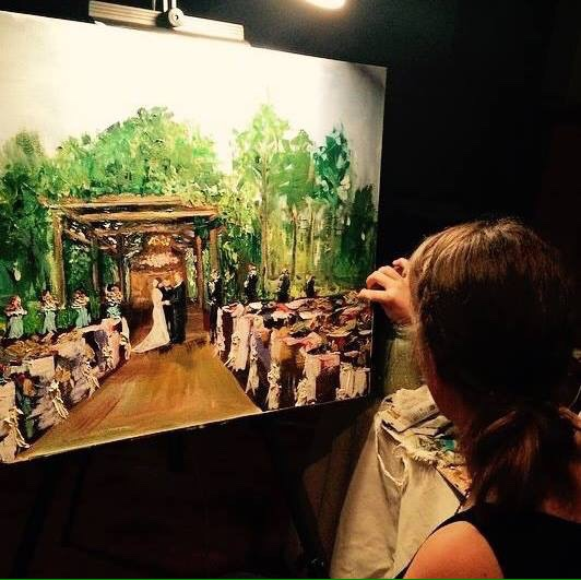 jefferson live wedding painting