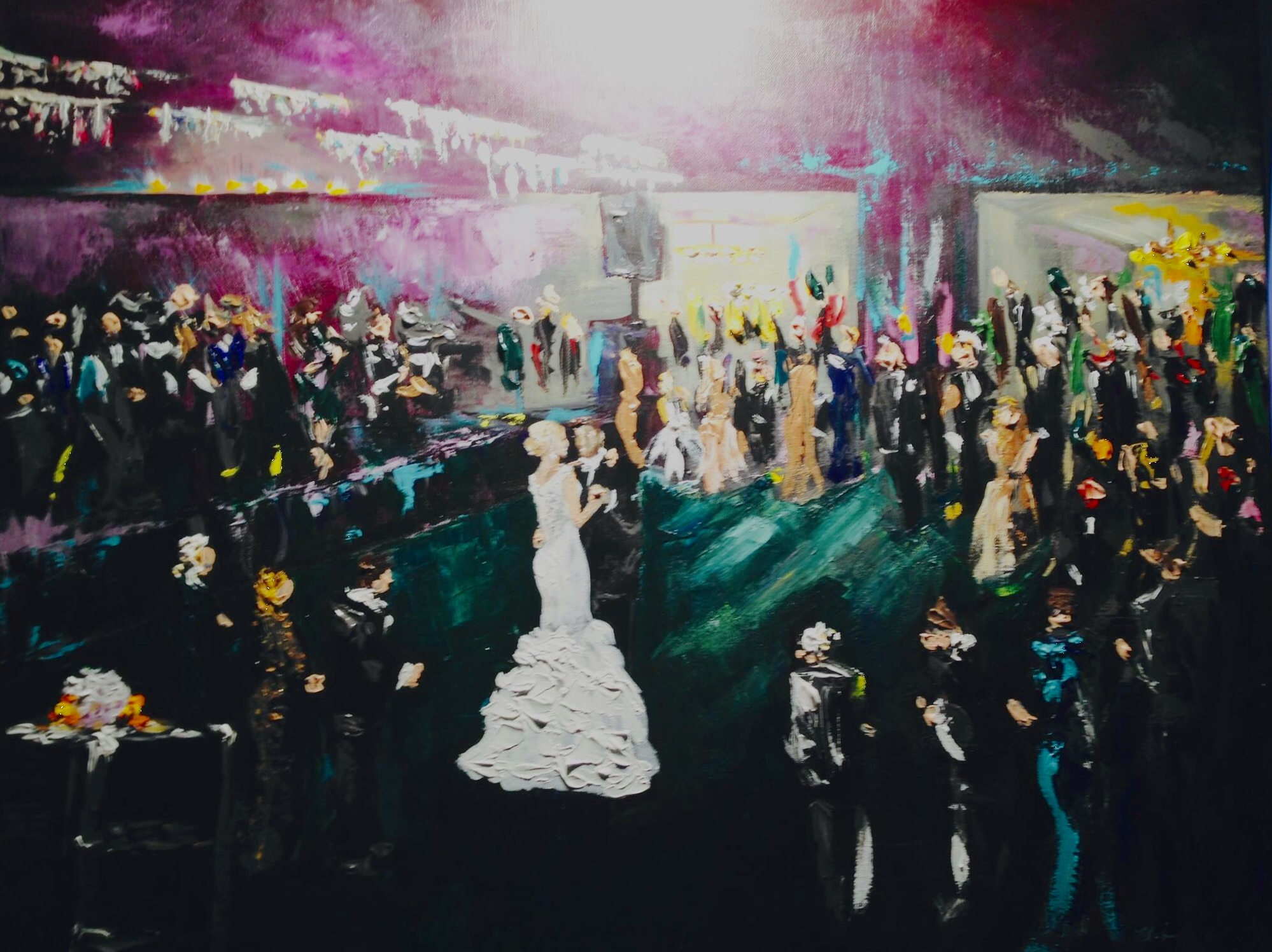 new orleans live wedding painting