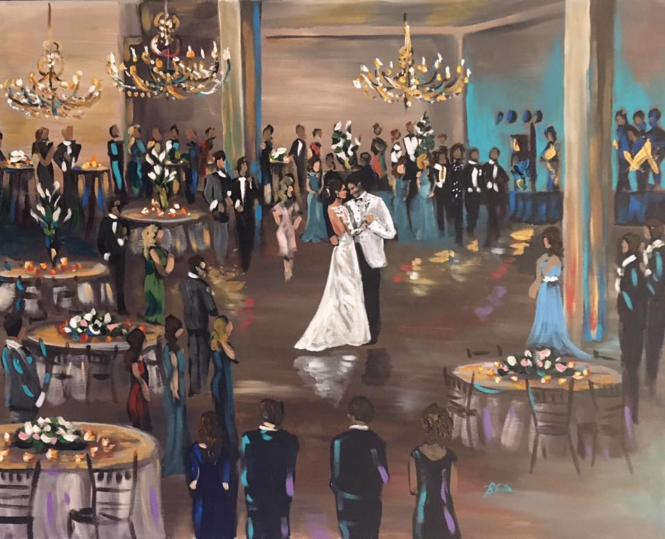 Blaire Brown Wedding Painter