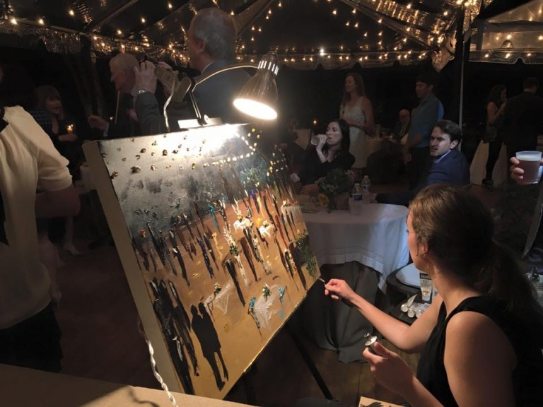 new orleans live event wedding painter