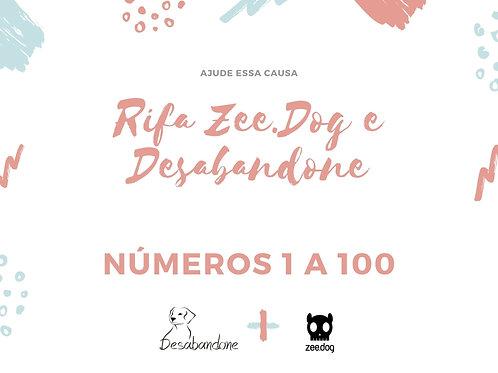 Rifa Zee.Dog - Números de 1 a 100