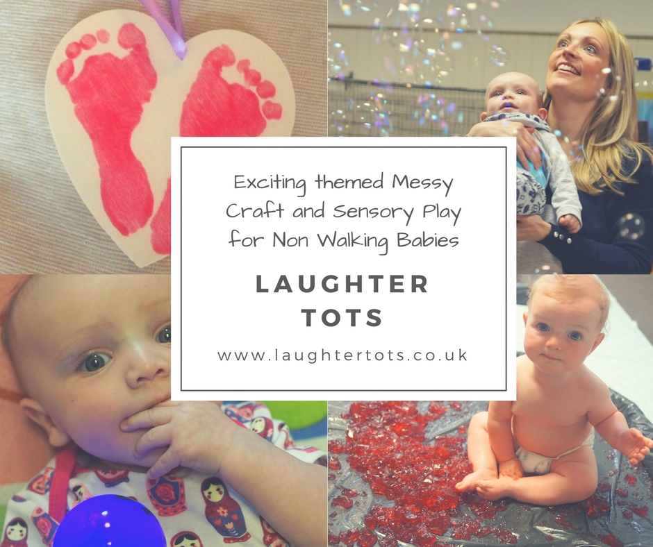 Exciting themed Messy Craft and Sensory Play for Non Walking Babies