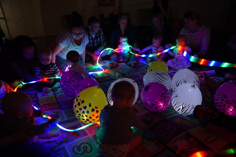 Sensory fun with lights
