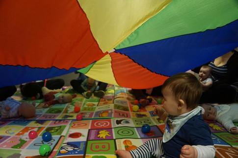 Babies Enjoying Sensory Fun