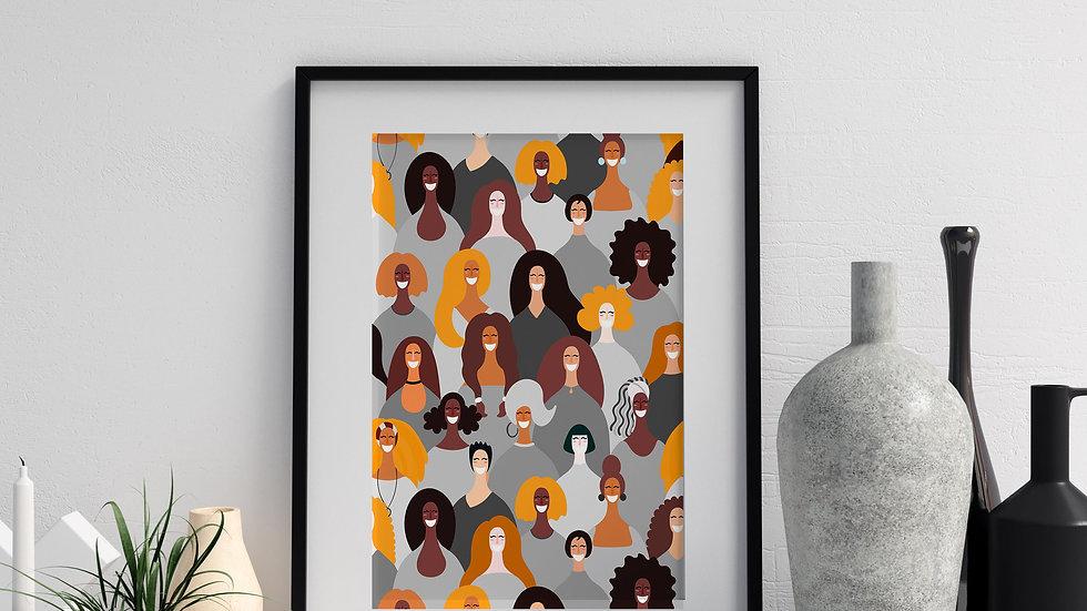 Art Print: More Powerful in Chrome