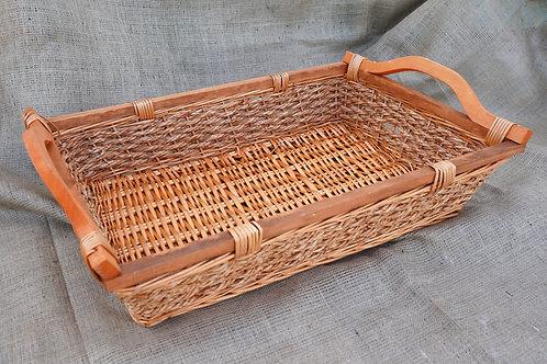 Καλάθι ψάθινο με ξύλινο σκελετό