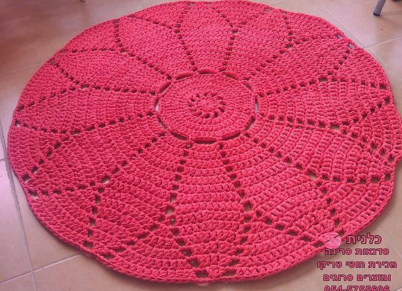 שטיח סרוג דגם פרח