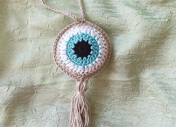 תליון עין טובה בצבע אבן