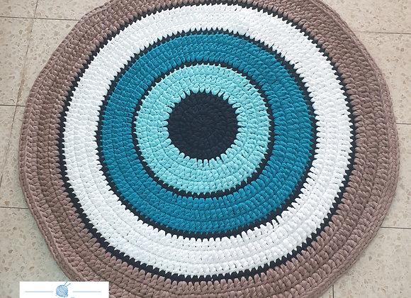 שטיח סרוג אופנתי דגם עין