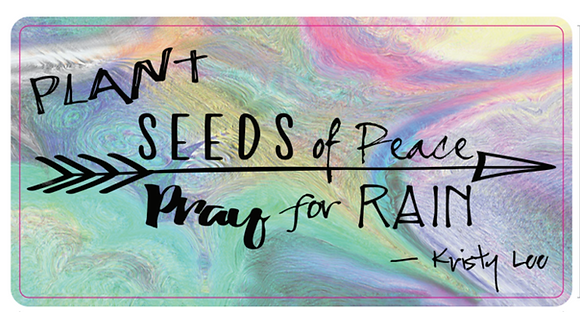 Plant Seeds of Peace - Bumper Sticker