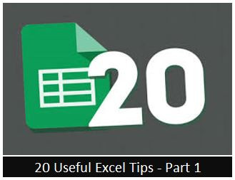 Useful Excel Tips - Part 1