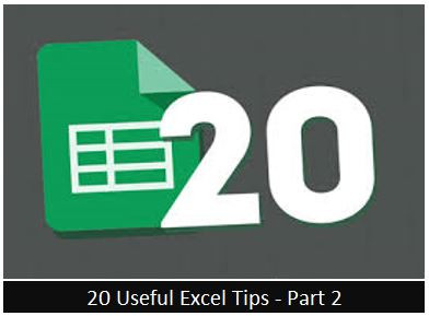Useful Excel Tips - Part 2