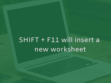Inserting new worksheet quickly