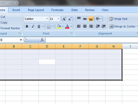 Selecting cells with Ctrl + Shift